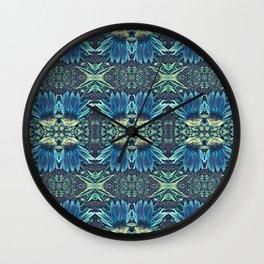 Blue Echinacea, Teal Cone Flowers, Blue Flower Dream Wall Clock
