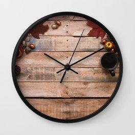 Autumn Vibes Wall Clock