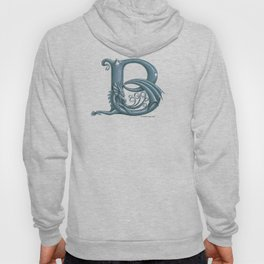 Dragon Letter B, from Dracoserific, a font full of Dragons. Hoody