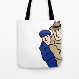 Peeping Man Tote Bag