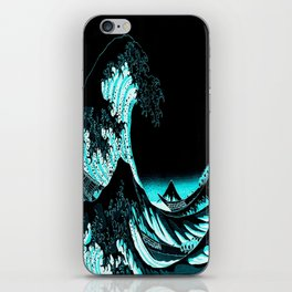 The Great Wave : Dark Teal iPhone Skin