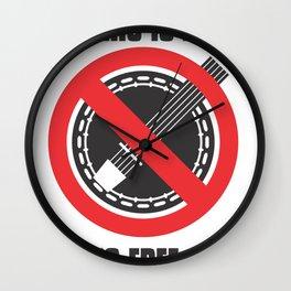 Banjo Free Zone Wall Clock