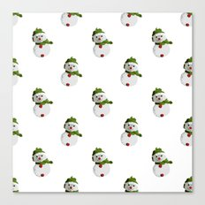 Snowman Pattern (NEW) Canvas Print