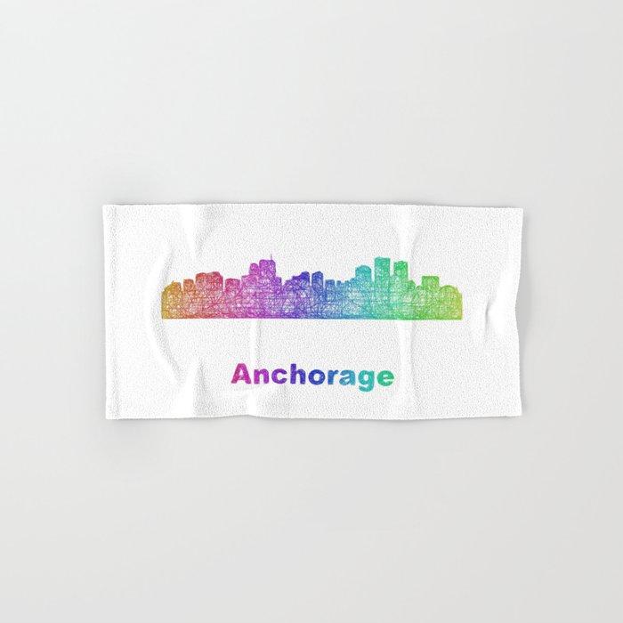 Rainbow Anchorage skyline Hand & Bath Towel
