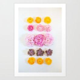 Flower Grid Art Print