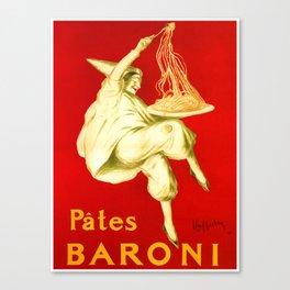 Pasta Baroni Leonetto Cappiello Canvas Print