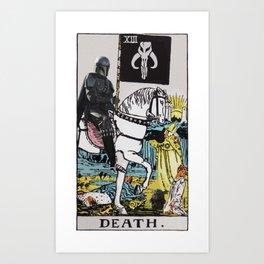 Tarot Bounty Hunter Death Card Art Print