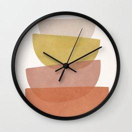 Abstract Minimal Shapes V Wall Clock