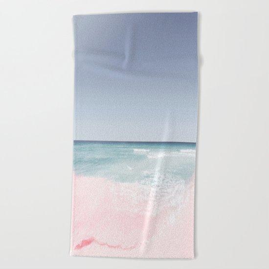 Pastel ocean waves Beach Towel