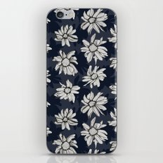 Black and Blue Flowers iPhone & iPod Skin