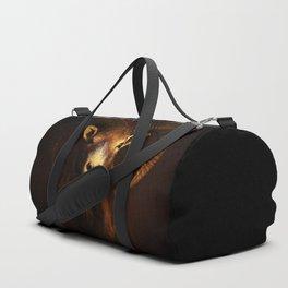 Beautiful Mouflon on Dark Background #decor #society6 #buyart Duffle Bag