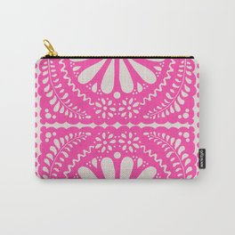 Fiesta de Flores Pink Carry-All Pouch