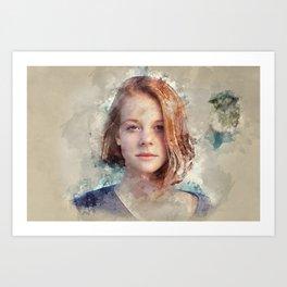 Flame Haired Girl Art Print
