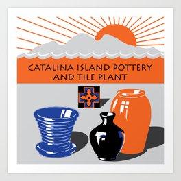Catalina Island Pottery and Tile Ad #2 Art Print