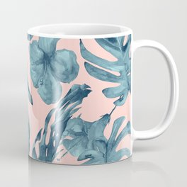 Island Life Teal on Light Pink Coffee Mug