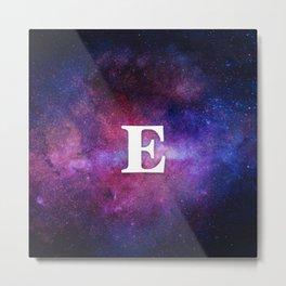 Monogrammed Logo Letter E Metal Print