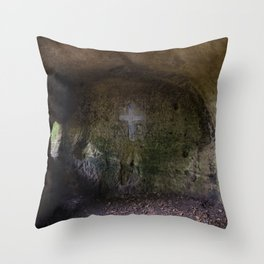 The hermit's cross Throw Pillow