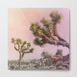 Joshua Trees ii - Surreal Desert Set Metal Print
