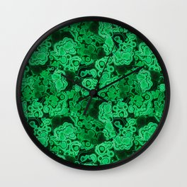 Malachite Puzzle Piece Tiles Wall Clock