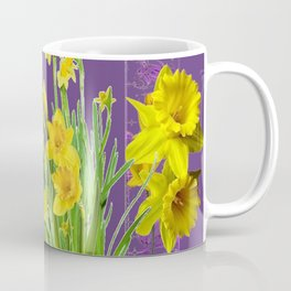 DAFFODIL SPRING GARDEN & PURPLE  DESIGN ART Coffee Mug