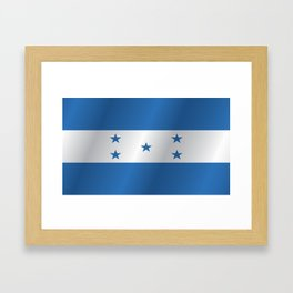 Flag of Honduras Framed Art Print