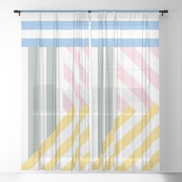 Summer stripes Sheer Curtain