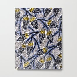 Energetic, electrifying abstract flowers pattern Metal Print