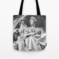 vienna Tote Bags featuring Vienna statue by Veronika