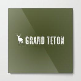 Deer: Grand Teton, Wyoming Metal Print