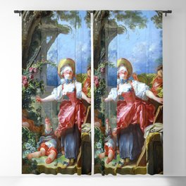 "Jean-Honoré Fragonard ""Blind-Man's Buff"" Blackout Curtain"