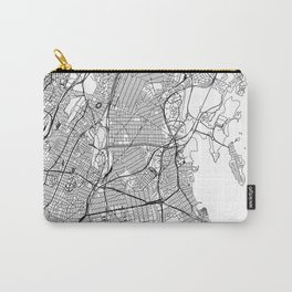 The Bronx White Map Carry-All Pouch