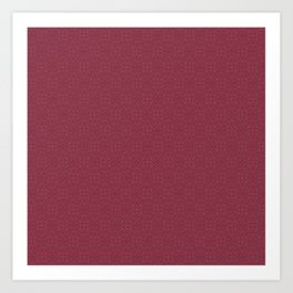 Red (Rouge) Magenta Tres Petit Geometric Pattern Art Print