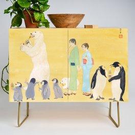 Penguin and Polar Bear in JAPAN Credenza