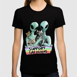 support gay aliens T-shirt