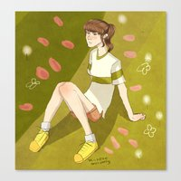 chihiro Canvas Prints featuring Chihiro  by Michelle Hannah Goldberg