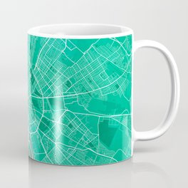 Budapest City Map of Hungary - Watercolor Coffee Mug