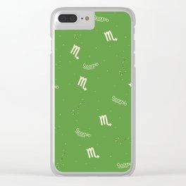 Scorpio Pattern - Green Clear iPhone Case