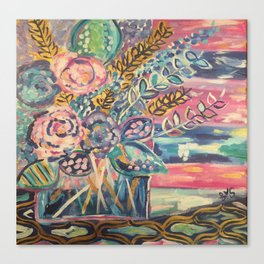Paradise Florals Canvas Print