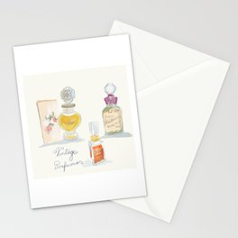 Vintage perfume bottles Stationery Cards