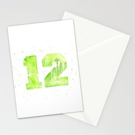 12th Man Seattle Art Stationery Cards