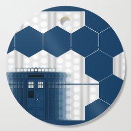 Tardis Shadow Blue Box Cutting Board