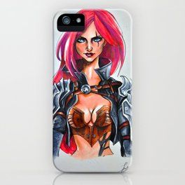 Katarina Copic Marker drawing iPhone Case