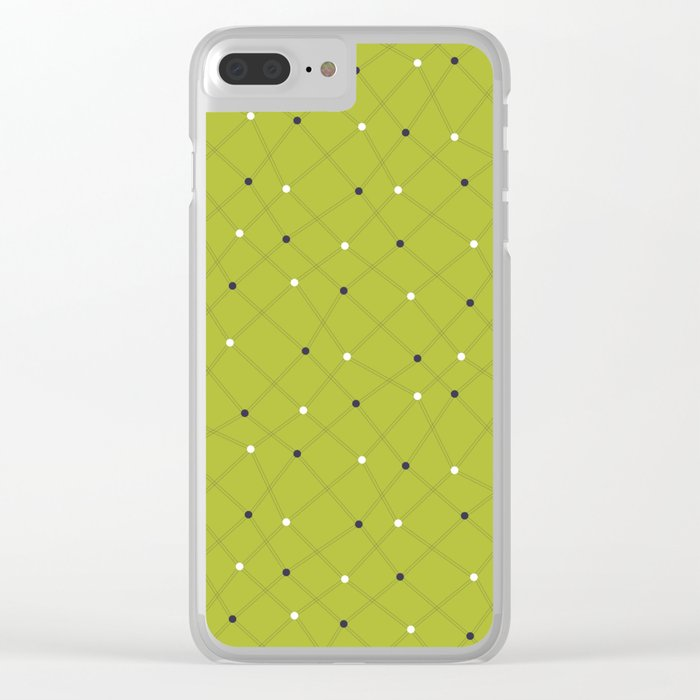 Chemistry Class Doodles - Lime Clear iPhone Case