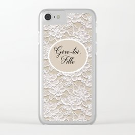 Gere-toi fille Clear iPhone Case