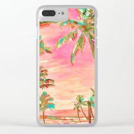 Beach at Mauna Lani Bay, Hawaii Peach Clear iPhone Case
