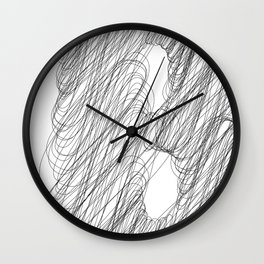 """"""" Cloud Collection """" - Minimal Letter B Print Wall Clock"""