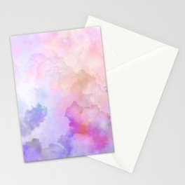 Pastel Clouds-Pink and Blue #homedecor Stationery Cards