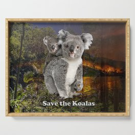 Save the Koalas Serving Tray