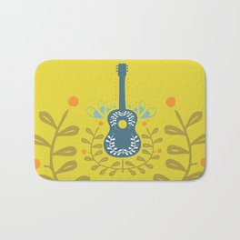 Fancy folk guitar Bath Mat