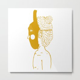 Masked Kid Metal Print